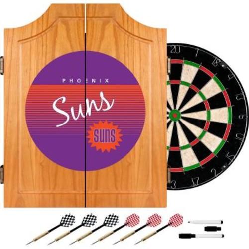 Trademark 20.5 in. Phoenix Suns Hardwood Classics NBA Wood Dart Cabinet Set