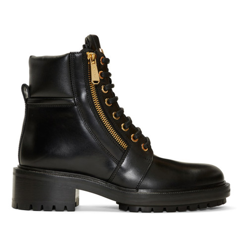 Black Army Ranger Zip Boots
