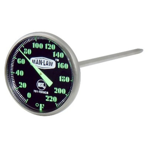 MAN LAW BBQ Series Instant Read Thermometer with Glow in the Dark Dial