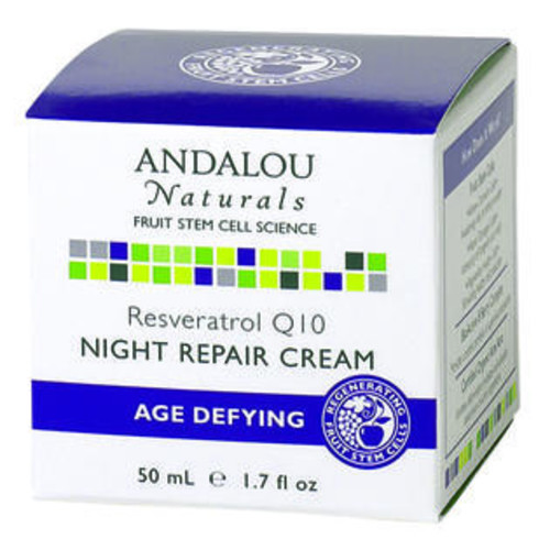 Andalou Naturals Resveratrol Q10 Night Repair Cream