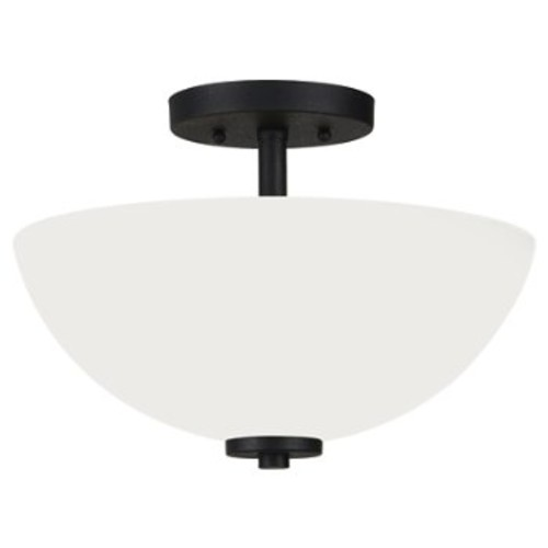 Oslo Pendant/Semi-Flushmount [Light Option : Incandescent; Finish : Blacksmith]