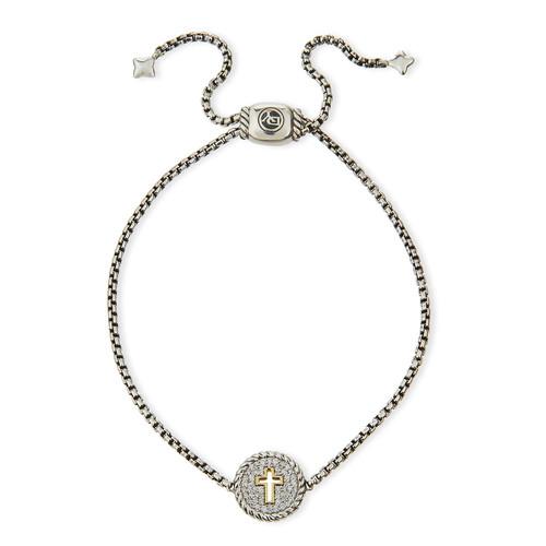 Petite Pav Diamond Cross Bracelet