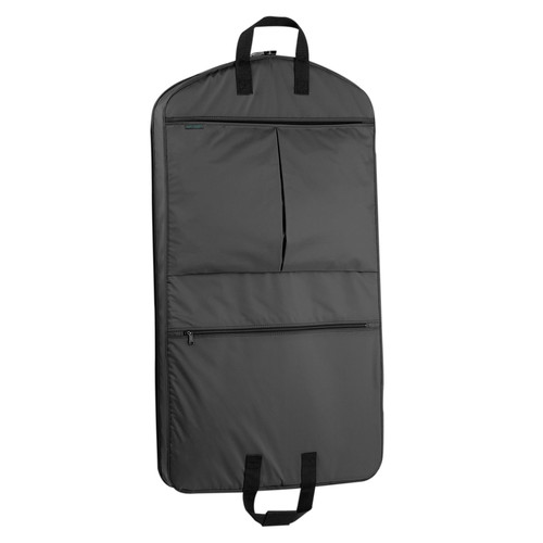 WallyBags 40 Inch Garment Bag with Pockets [Black]