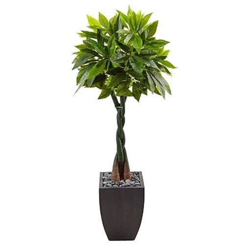 Nearly Natural 5H Money Tree in Black Square Planter (5978)