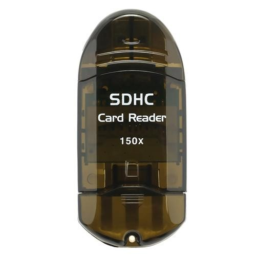 Insten SDHC / SD / MMC Memory Card Reader to USB 2.0 Adapter, Smoke