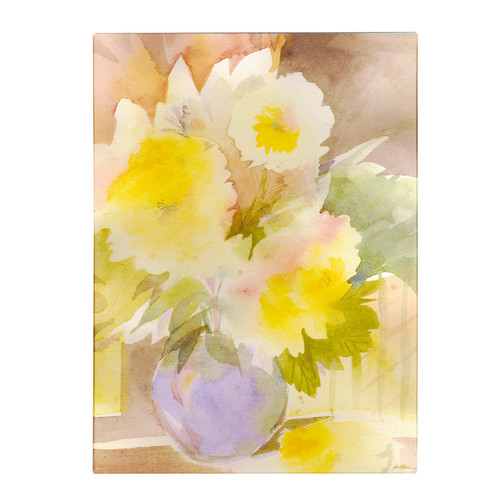 Trademark Global Sheila Golden 'Purple Vase' Canvas Art [Overall Dimensions : 18x24]