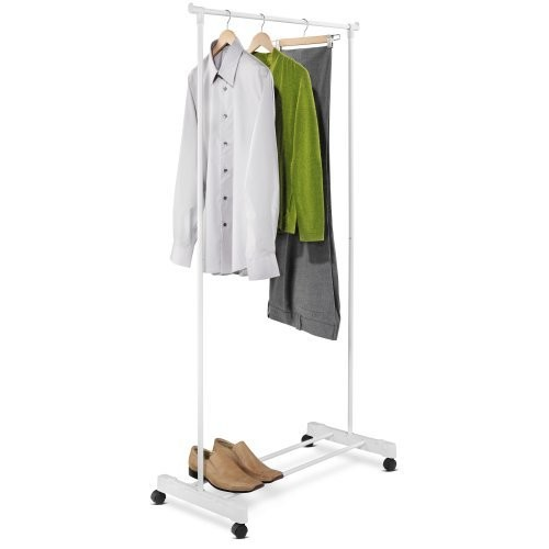 Honey-Can-Do GAR-01121 Portable Garment Rack with Casters Powder Coated Finish, White