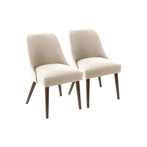 S/2 Barron Side Chairs, Talc