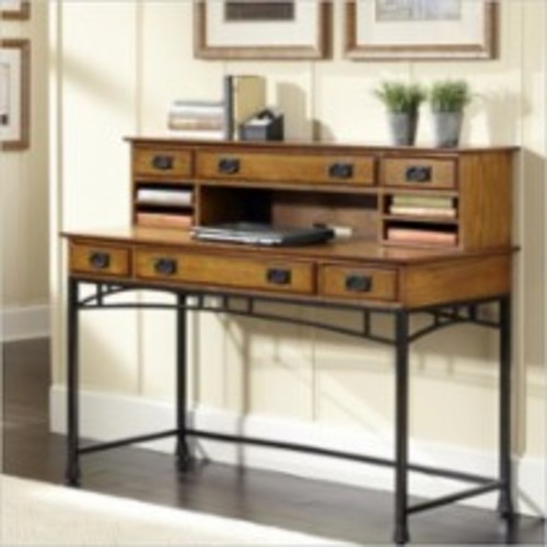 Home Styles - Home Styles Modern Craftsman Executive Desk and Hutch - Oak