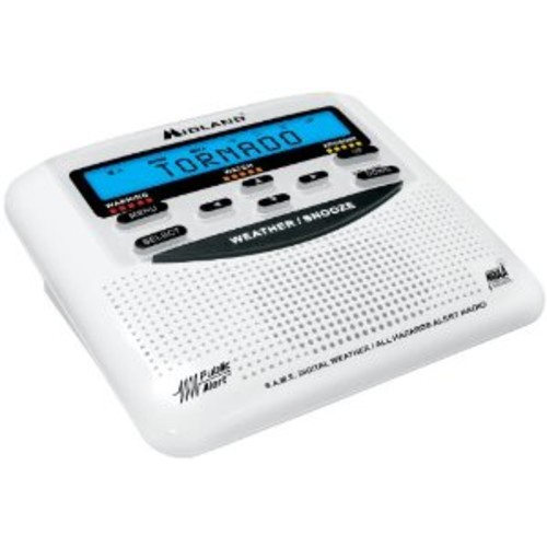 Midland WR120/WR120EZ NOAA Weather Alert All Hazard Public Alert Certified Radio with SAME, Trilingual Display and Alarm Clock - Box Packaging [Box Packaging]