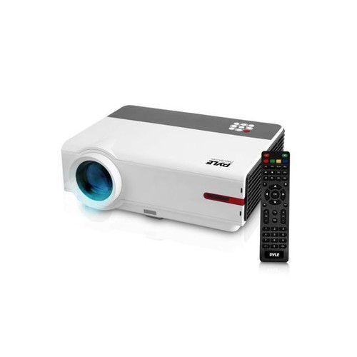 Home Theater Smart Video Projector HD 1080p Entertainment - 5.8'' LCD + LED Lamp Digital Multimedia Movie with HDMI USB Android Video Camera with Remote for PC Computer TV Laptop & WiFi Access - PRJAN