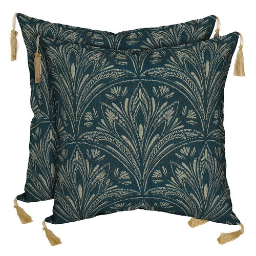 Bombay Outdoors Royal Zanzibar Medallion Tassels Reversible Throw Pillow 2-piece Set