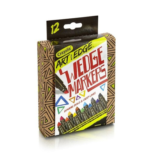 Crayola Art with Edge Wedge Markers - 12 Count