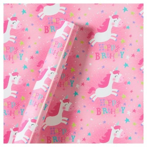 Roll Wrap Unicorns Birthday - Spritz