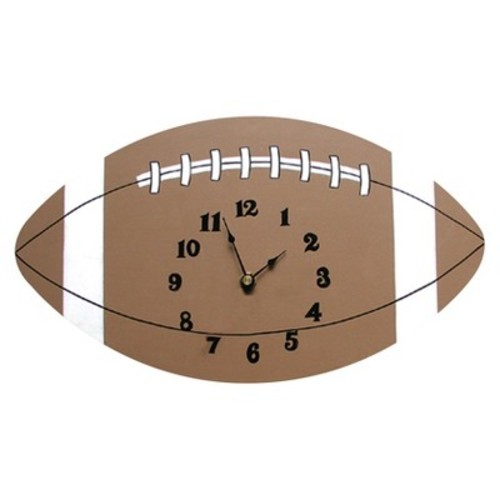 Trend Lab Football Wall Clock: Baby [Football]