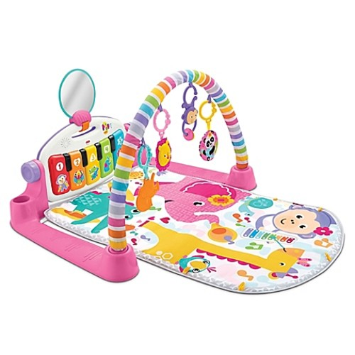 Fisher-Price Deluxe Kick and Play Piano Gym in Pink
