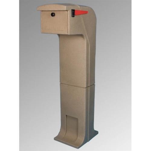 Mail Gator Pedestal Locking Mailbox - Sandstone