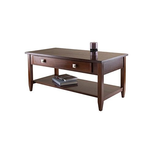 Winsome Richmond Coffee Table with Tapered Leg [Walnut, 40 inches]