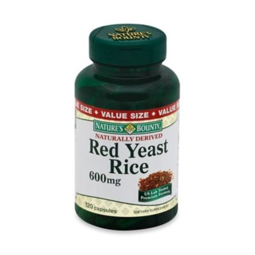 Nature's Bounty 120-Count Red Yeast Rice 600 mg Capsules