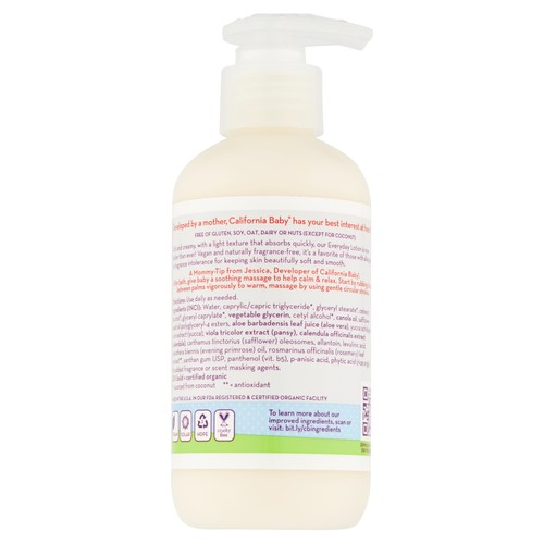 California Baby Super Sensitive Everyday Lotion - Fragrance Free - 6.5 oz
