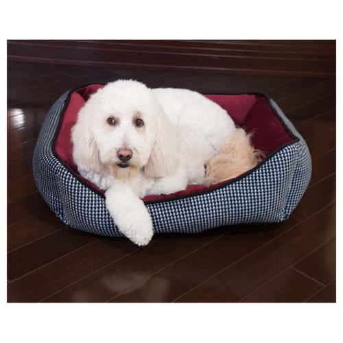 Houndstooth Cuddler Pet Bed