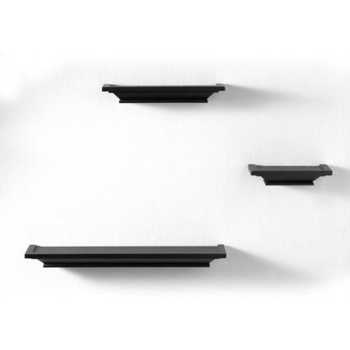 Lewis Hyman InPlace 8-inch 3-piece Wall Ledge Set Black Finish