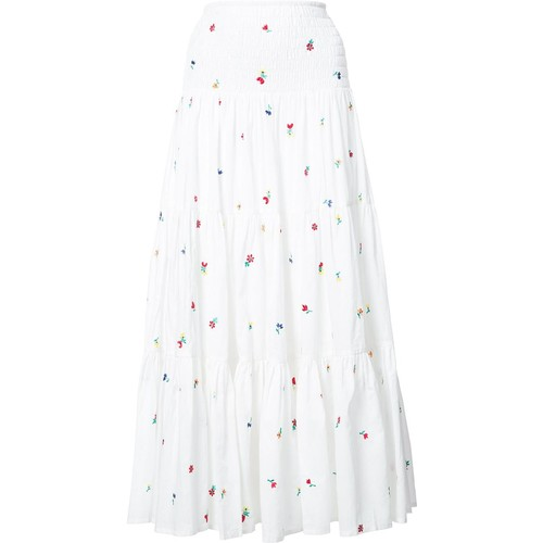 SUNO Embroidered Maxi Skirt
