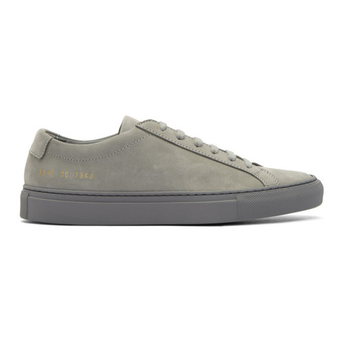 WOMAN BY COMMON PROJECTS Grey Nubuck Original Achilles Low Sneakers