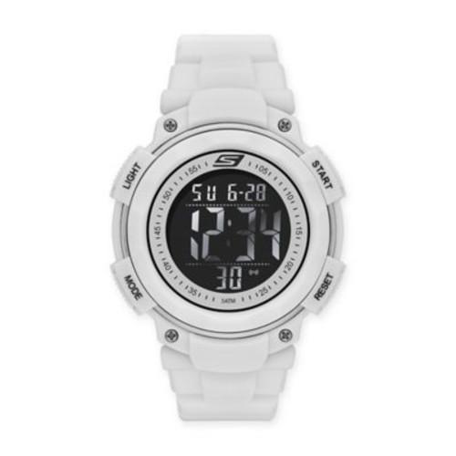 Skechers Ruhland Men's 45mm Digital Watch in White