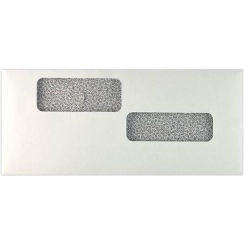 LUX #10 Double Window Payroll Envelopes (4 1/8 x 9 1/2) 50/Pack, 24lb. White w/ Sec. Tint (10DW-24W-50)