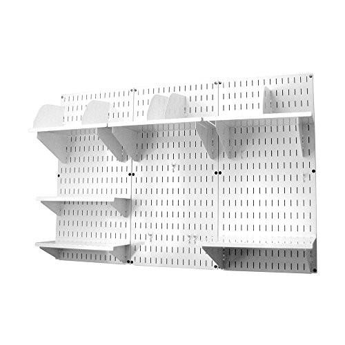 Wall Control Office Wall Mount Desk Storage and Organization Kit, White [White/White]