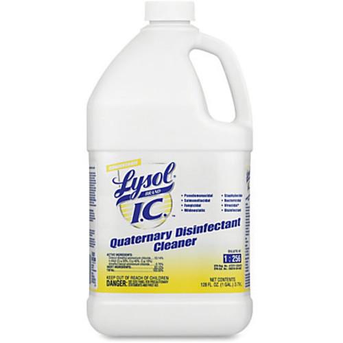 Lysol Quaternary Disinfectant Cleaner - Liquid - 1 gal (128 fl oz) - Bottle - 4 / Carton - Amber