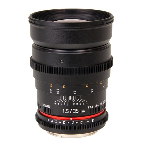 Bower SLY35VDC Wide-Angle 35mm T/1.5 Digital Cine Lens for SLR Canon Camera [Canon]
