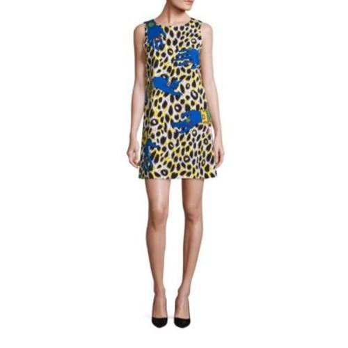 MOSCHINO Leopard & Hand-Print Minidress