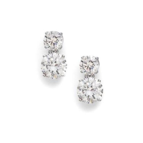 Double Stud Drop Earrings