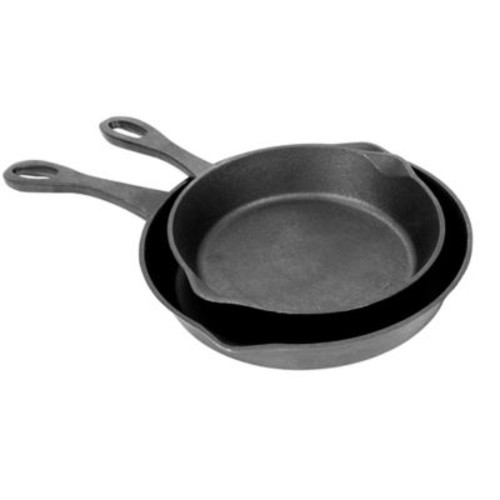 Bayou Classic Cast Iron 2-Piece Skillet Set