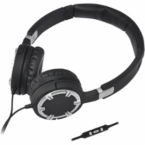 Gear Head - Dynamic Bass Multimedia Headphones With Microphone - Silver - Silver