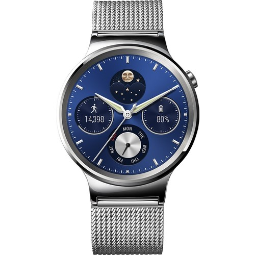 Huawei - Smartwatch 42mm Stainless Steel - Silver Stainless Steel with Stainless Steel Mesh