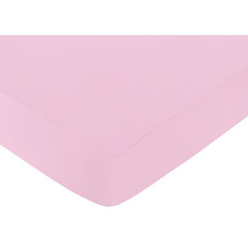 Sweet Jojo Designs Paris Collection Fitted Crib Sheet - Light Pink
