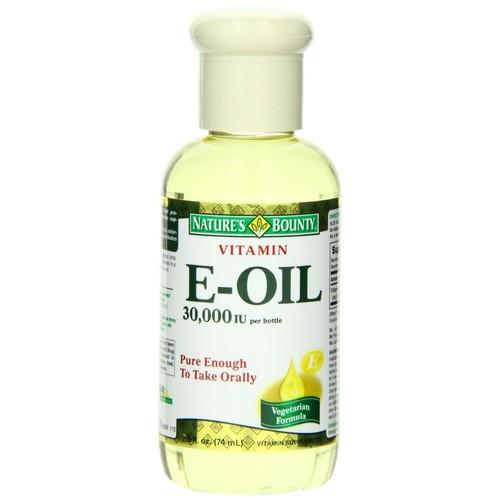 Natures Bounty Vitamin E-Oil, Natural, 2.5 fl oz (74 ml)