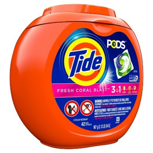 Tide PODS Fresh Coral Blast Laundry Detergent Pacs - 42ct