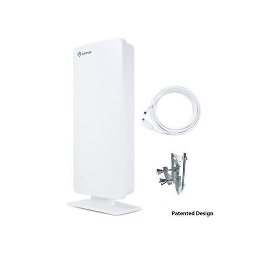 ANTOP AT-400 Outdoor/Indoor HDTV TV Antenna 65 Miles Range Digital TV HDTV Antenna Signals UHF VHF