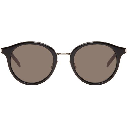 SAINT LAURENT Black & Silver Sl 57 Pantos Sunglasses