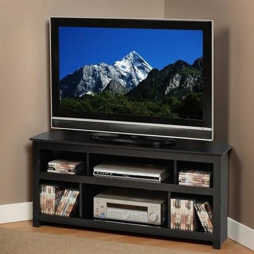 Prepac Vasari 50-Inch Corner Flat Panel Plasma/LCD TV Console, Black