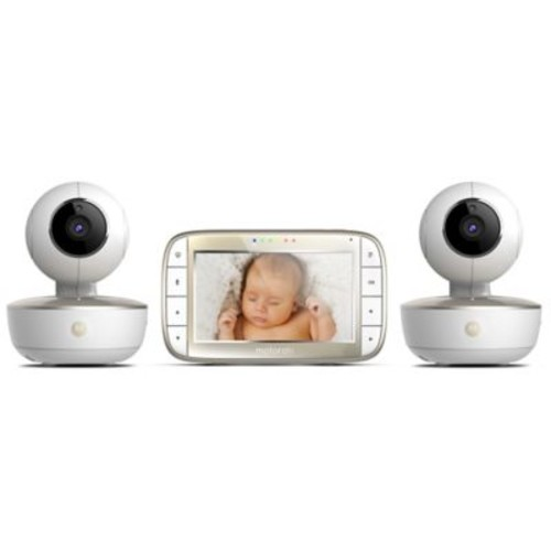 Motorola 5-Inch HD Video Baby Monitor with WiFi and Two Cameras