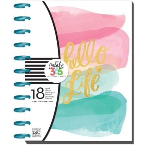 me & my BIG ideas Create 365 The Big Happy Planner, Stay Golden, 18 Month Planner, July 2016 - December 2017 [Stay Golden, July 2016 - December 2017]