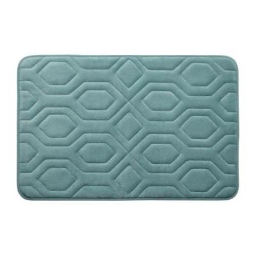 BounceComfort Turtle Shell Marine Blue 17 in. x 24 in. Memory Foam Bath Mat