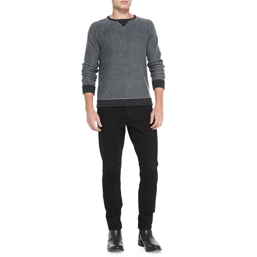 Slim Skinny Denim Jeans, Black