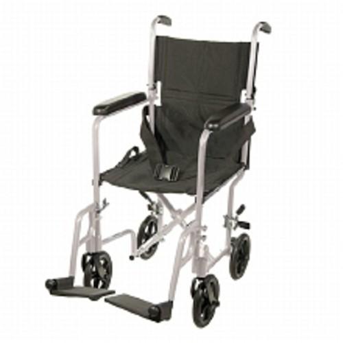 Drive Medical Lightweight Transport Wheelchair 19 Inch Silver