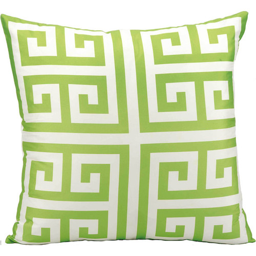 Mina Victory Indoor/Outdoor Greek Key Apple Green Throw Pillow (20-inch x 20-inch) by Nourison